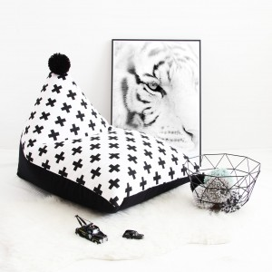 Beanbag BLACK CROSSES (small)