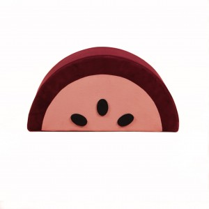 Watermelon kids pouf burgund/pink