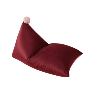 Pom pom beanbag, plush DEEP RED