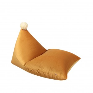 Pom pom beanbag, plush YELLOW