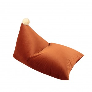 BEANBAG WITH POMPOM GINGER