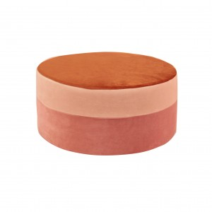 Round pouf , multicolor pouf ginger/light pink/powder pink