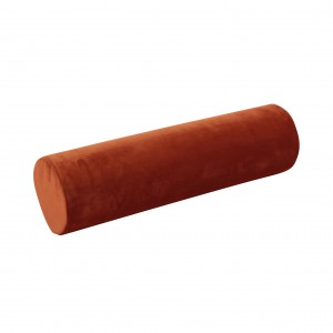 Roller pillow, velvet ginger