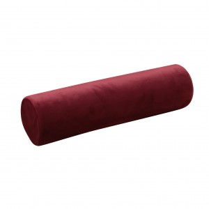 Roller pillow, velvet deep red