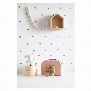 Wall stickers 'hearts' (gold)