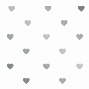 Wall sticke rs 'hearts' (silver)